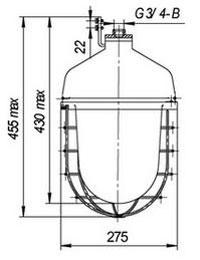 Габаритные размеры светильников НСП 55-300, мм:
