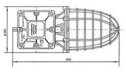Габаритные размеры светильников РСП25-125 и РСП25-250, мм: