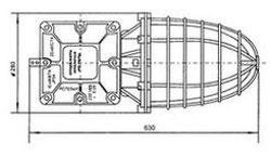 Габаритные размеры светильников РСП 25-125, РСП-250 с УПРУ, мм:
