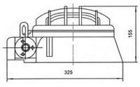 Габаритные размеры светильников ПВ-100, мм: