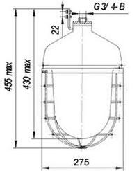 Габаритные размеры светильников ФСП-15-4х11, мм: