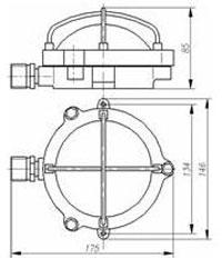 Габаритные размеры светофоров СВС-1К, мм: