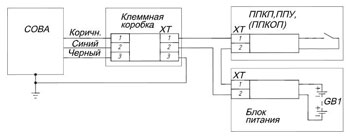 Электрическая схема подключения изделия