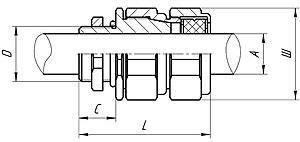 Габаритные размеры ВК-ВЭЛ1Б (для бронированных кабелей)