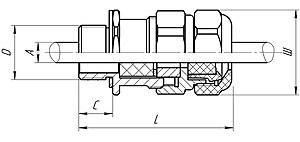 Габаритные размеры ВК-Л-ВЭЛ2 (для небронированных кабелей)