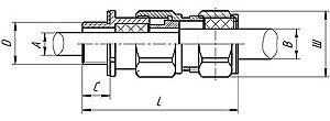 Габаритные размеры ВК-ВЭЛ2Б (для бронированных кабелей)