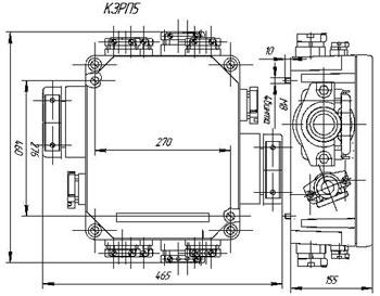 Габаритные размеры коробок КЗРП-5, мм:
