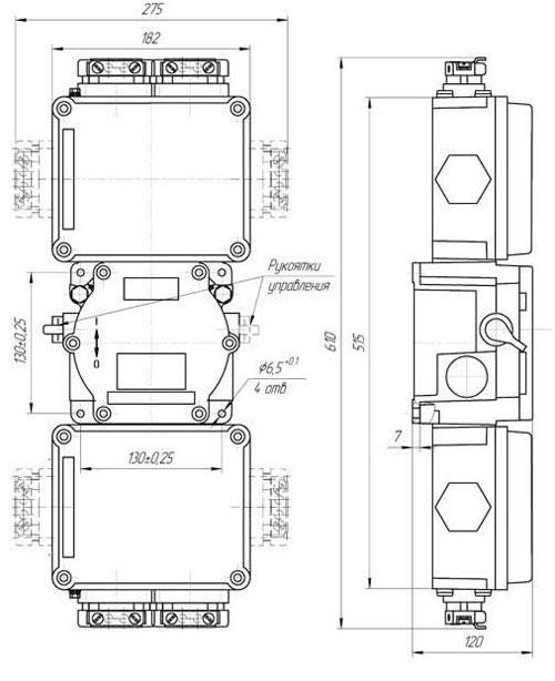 Габаритные размеры модулей коммутации МКВ, мм: