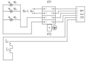 Электрическая схема постов ПАСО-1-Х-ХХУ1 и ПАСО-1-Х-Х4ХУ1