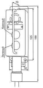 Габаритные размеры сигнализаторов ВС-3-2СФ-ГС, мм: