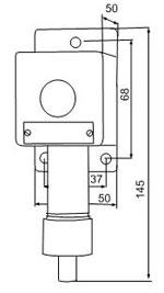 Габаритные размеры сигнализаторов ВС-4-С, мм:
