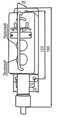 Габаритные размеры сигнализаторов ВС-5-2СФ-ГС, мм: