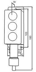 Габаритные размеры сигнализаторов ВС-5-3СФ, мм: