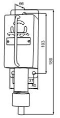 габаритные размеры сигнализаторов ВС-5-ГС, мм: