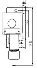Габаритные размеры сигнализаторов ВС-5-С, мм: