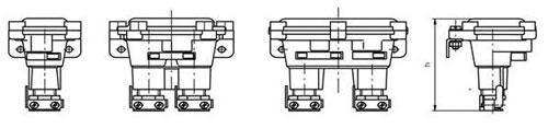 Габаритные размеры постов КУ-90, мм: