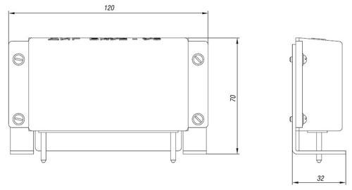 Габаритные размеры блоков БКУ, мм: