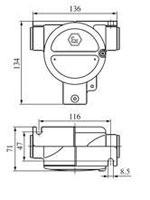 Габаритные размеры светильников ВАД-РСП-Ч, мм: